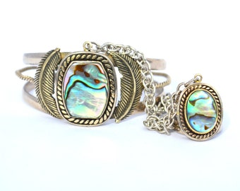 Abalone Slave Cuff by Heart Majestic//Slave bracelet//Ring CUff//Abalone bracelet//Mermaid jewelry