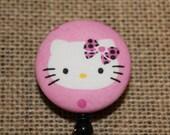Hello Kitty Pink Badge Reel ID Holder