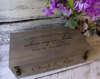 Wine Box, Custom Made Wedding Wine Box, Wine Box Ceremony, Love Letter Box, Memory Box, Wedding Gift, Wine Box Wedding