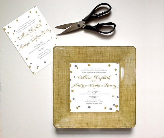... unique wedding gift - invitation plate - wedding gift idea - 1st