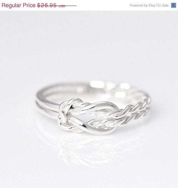 in July Infinity Knot Ring