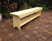 Bench - TV Stand - Coffee Table, Dining Bench, Wood Bench, Hallway Bench, Entry Bench, Mudroom Bench, Rustic Bench, 6 Foot, 72""