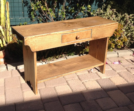 """Bench with Drawer - TV Stand - Coffee Table, Dining Bench, Wood Bench, Hallway Bench, Entry Bench, Mudroom Bench, Rustic Bench, 3 Foot, 36"""""""