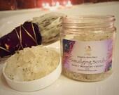 Smudging Scrub - White sage, and myrrh with rutilated quartz