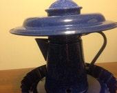 Blue Coffee Pot Birdfeeder (FREE  Shipping)