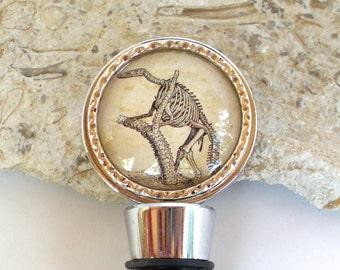 Bottle Stopper - Dinosaur Wine Bottle Stopper - Hadrosaurus