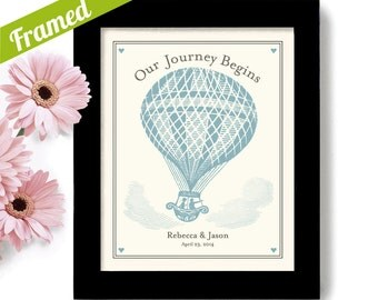Unique Engagement Gift Wedding Balloon Decor Hot Air Balloon Bride and Groom New Adventure for Couples Personalized Wedding Present