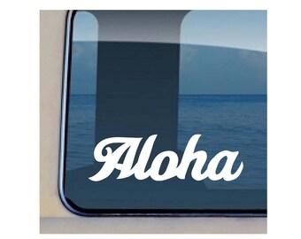 Aloha Sway Decal Hawaiian Word Vinyl Sticker 37