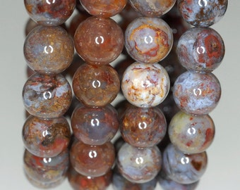 9-10mm Pietersite Gemstone Grade AB Brown Round 9-10mm Loose Beads 7 inch Half Strand (90188153-815)