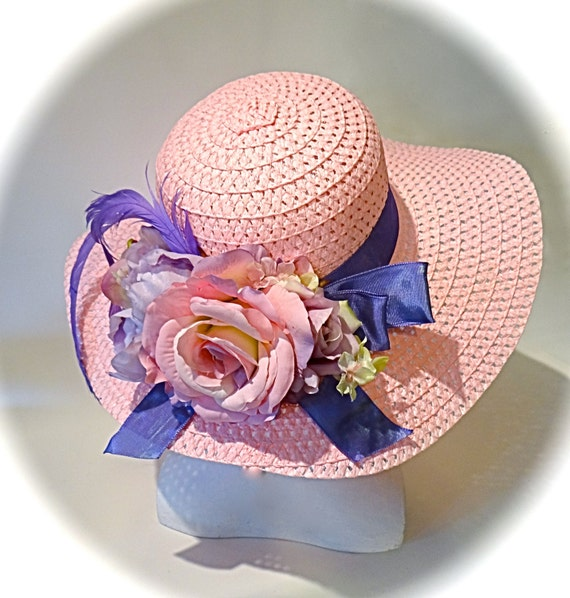 Pink Sun Hat Mother Of The Bride Hats Tea Party By
