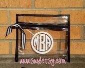 2 Personalized Wet Bikini Bags, Monogrammed Bags, Bridesmaid Gift, Bachelorette