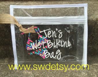 Wet Bikini Bag / Bachelorette / Bridesmaid Gift / LILLY PULITZER inspired / Personalized Bikini Bag / Beach Bachelorette / Birthday Gift