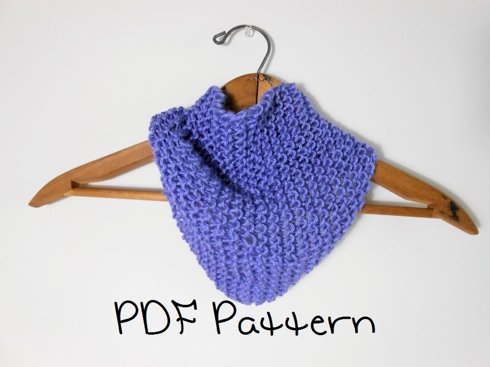 Free Knitting Patterns For Beginners Baby Blanket : Knitting Pattern Easy Bandana Scarflet Quick Head Scarf