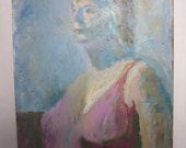 Abstract Portrait Woman, Signed