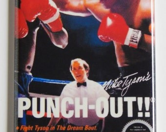 Mike Tyson's Punch Out Video Game Fridge Magnet