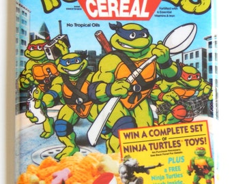 Ninja Turtle Cereal Box Fridge Magnet (2 x 3 inches)