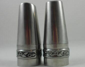 Danish Modern Rogers Insilco 18/8 Stainless Salt & Pepper