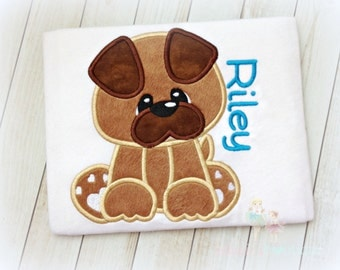 Boys puppy shirt - puppy dog shirt - personalized puppy shirt - custom puppy shirt for boys - puppy birthday shirt - custom embroidered