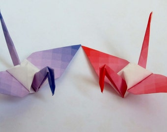 Origami Cranes-100 Shaded Small Japanese Paper Crane