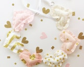 Blush and Gold Garland, garland, pink and gold garland, bunting, party garland, pink and gold party, blush and gold decor, pink garland,