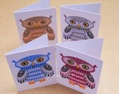 Four Owls folded gift tags pack of 4 peel-off tags