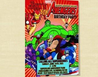 Custom Avengers Birthday Invite - Printable Avengers Birthday Invite
