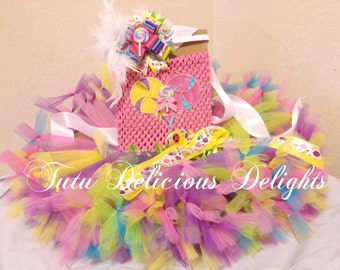 Lollipop Swirl Tutu Dress, Petti Tutu Dress, Candy Land Tutu, Lollipop Pageant Dress, Kids Birthday Tutus, Kids Photo Props