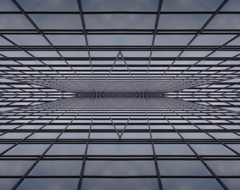 "Manhattan Zen - Surreal photo print under glossy acrylic glass, 18"" x 24"""
