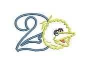 Big Bird Applique Embroidery Design (236) Instant Download