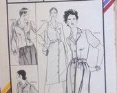 Stretch and Sew 1572 tailored dress, blouse multi size pattern, Ann Person, knit fabrics pattern, peplum blouse, button front dress