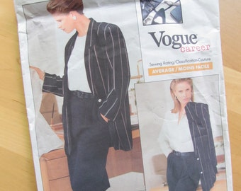 Uncut Vogue Sewing Pattern 2034 - Tamotsu - Misses Jacket, Skirt and Pants - Size 8-12