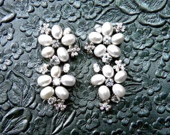 Bridal Earrings, Pearl Bridal Earrings, Pearl Earrings, Wedding Earrings, Bridal Statement Earrings, Pearl Cluster Earrings
