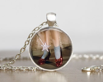 Ruby Slippers Pendant Necklace