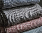 Handwoven Organic Cotton Herringbone Throw or Blanket