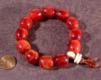 Prayer Bracelet, Amber Bracelet, Prayer Bead Bracelet, Yoga Mala Bracelet, Mala Prayer Beads, Ethnic Jewelry, Meditation Bracelet, Beadwork