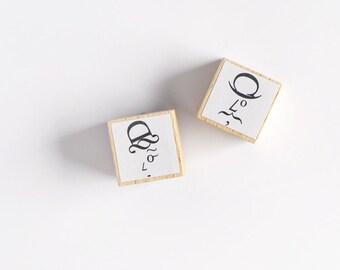"Rubber Stamps ""Hercule Poirot & Miss Marple"" (Set of 2)"