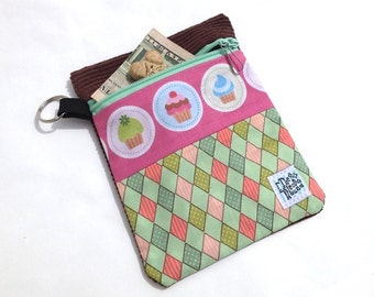 Harlequin Cupcakes Clip-on Dog Leash Accessory Pouch - Dog Treat Bag - Dog Poop Bag Holder