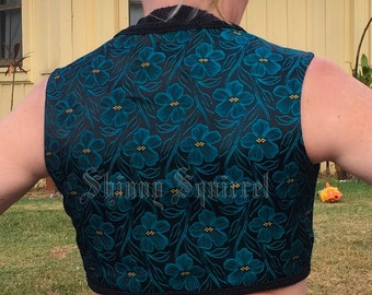 The perfect turkish vest-stunning turquoise and black