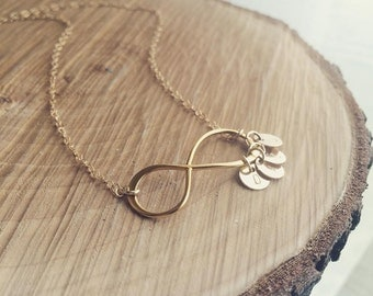Infinity Necklace/ Personalized Gift /Infinity and Initial Necklace/Grandmother, Mothers Gift/ Faith Forever/Infinity & Monogram Necklace