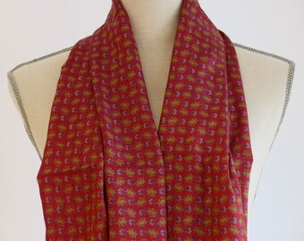 Red Paisley Silk scarf