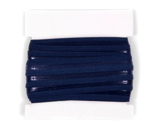 5/8th inch Silicone Backed Elastic for no slip headbands - 5 or 10 yards - Navy