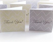 blank thank you handmade mini greeting cards grey and light yellow chevron set of 10 handmade thank you note cards packaging cards
