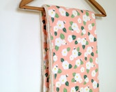 Baby Blanket Japanese DOUBLE GAUZE Pink Flowers Ready To Ship