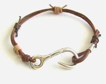 Men Leather Bracelet, Wrap Bracelet, Unisex Jewelry, Masculine Bracelet, Men Leather wrap, Boho