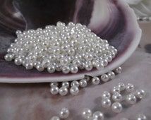 4mm Ivory Faux Loose Pearls -- 250 pieces