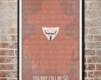 V for Vendetta You May Call Me V Movie Poster