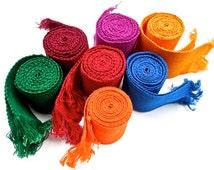 VINTAGE: 1980's - Boho Fiesta Native Guatemala Handwoven Faja - Traditional Native Guatemalan Belt - Sash - Colorful Belt