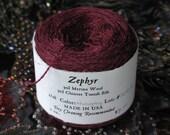 Mahogany 2/18 Zephyr Wool/Silk Yarn