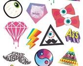 Retro Lable Sticker Laptop Suitcase Sticker Masking Sticker - 1 Sheet 18 Pcs