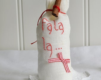 Christmas sachet sack , home decor sachet, Christmas scent, shabby rustic Swedish holiday decor